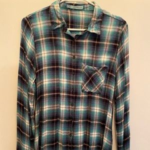 Maurices Plaid Button Down Top